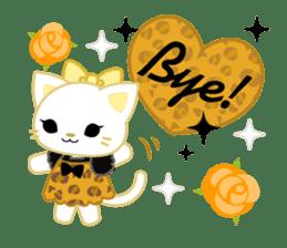 Leopard and cat sticker #307472
