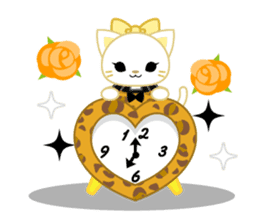 Leopard and cat sticker #307475
