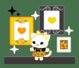 Leopard and cat sticker #307480