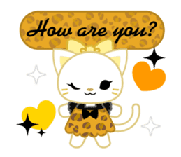 Leopard and cat sticker #307481