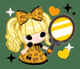 Leopard and cat sticker #307484