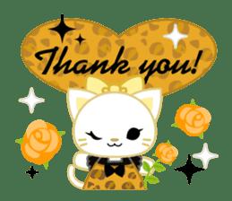 Leopard and cat sticker #307492