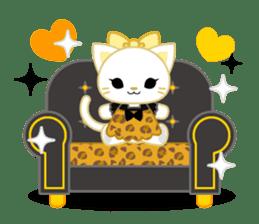 Leopard and cat sticker #307499