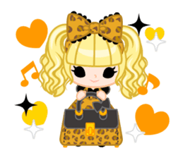 Leopard and cat sticker #307502
