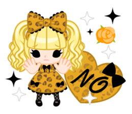 Leopard and cat sticker #307504