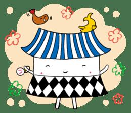 Nagoya city mascot HACHIMARU STAMP sticker #307942