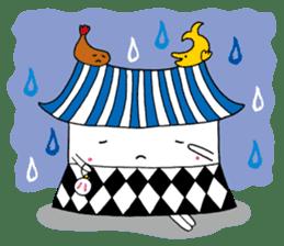 Nagoya city mascot HACHIMARU STAMP sticker #307944