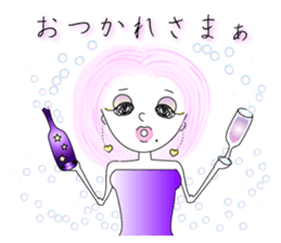 Bubbly-chan                 Dailystamp!! sticker #307966