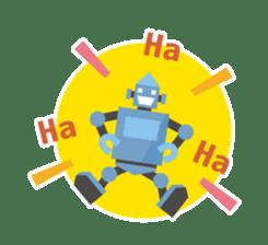 Flat Robot ! sticker #308225