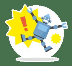 Flat Robot ! sticker #308229
