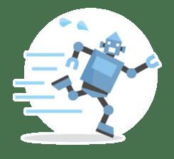 Flat Robot ! sticker #308233