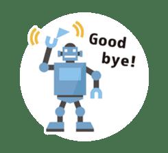 Flat Robot ! sticker #308235