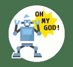 Flat Robot ! sticker #308237