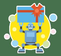 Flat Robot ! sticker #308241
