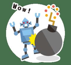 Flat Robot ! sticker #308246