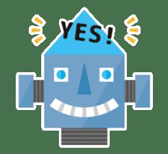 Flat Robot ! sticker #308247