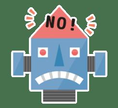 Flat Robot ! sticker #308248
