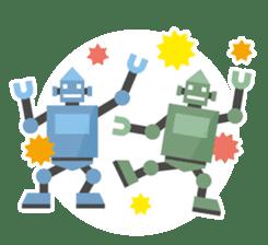 Flat Robot ! sticker #308259