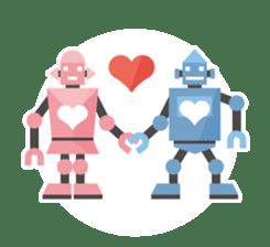Flat Robot ! sticker #308260