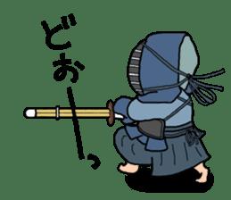 KENDO Samurai Boy sticker #308746