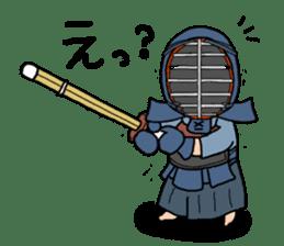 KENDO Samurai Boy sticker #308749