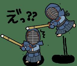 KENDO Samurai Boy sticker #308750