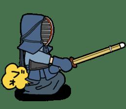 KENDO Samurai Boy sticker #308751