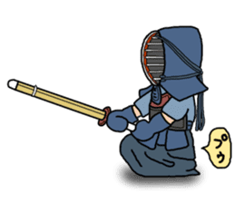 KENDO Samurai Boy sticker #308752
