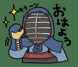 KENDO Samurai Boy sticker #308753