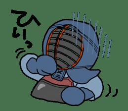 KENDO Samurai Boy sticker #308756