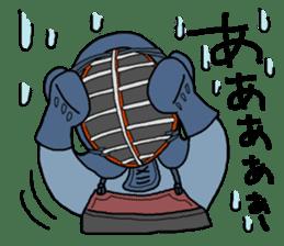 KENDO Samurai Boy sticker #308758