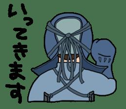 KENDO Samurai Boy sticker #308759