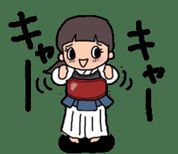 KENDO Samurai Boy sticker #308780