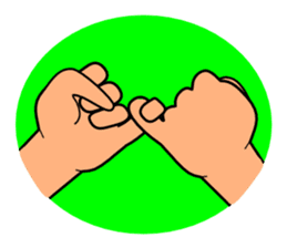 The communication by hand sticker #309674