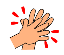 The communication by hand sticker #309678