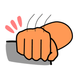 The communication by hand sticker #309701