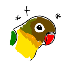Graffiti LOVEBIRD sticker #310368