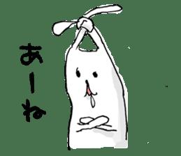 Drool rabbit sticker #311388