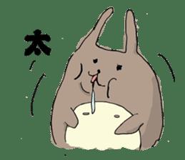 Drool rabbit sticker #311418