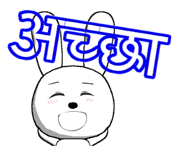 The rabbit which is full of expressions9 sticker #312441