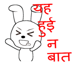 The rabbit which is full of expressions9 sticker #312457