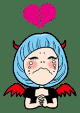 Moody Devil Girl sticker #313115