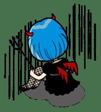 Moody Devil Girl sticker #313118