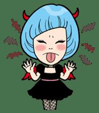 Moody Devil Girl sticker #313124