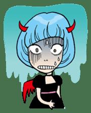 Moody Devil Girl sticker #313129