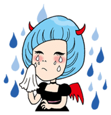 Moody Devil Girl sticker #313130