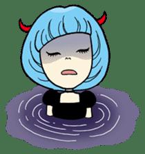 Moody Devil Girl sticker #313141