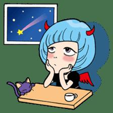 Moody Devil Girl sticker #313143