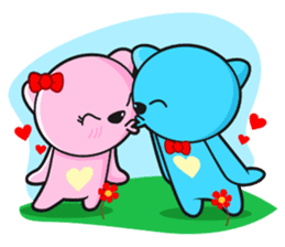 MR AND MRS BEAR ( IN LOVE ) sticker #313307