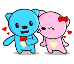 MR AND MRS BEAR ( IN LOVE ) sticker #313308